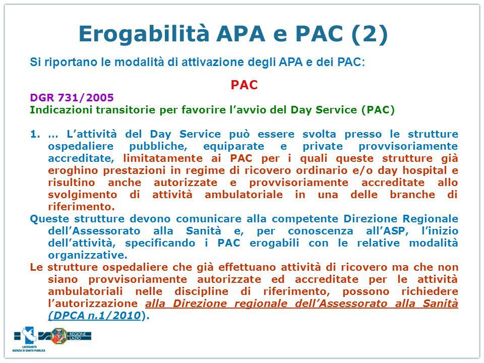 Erogabilità APA e PAC (2)