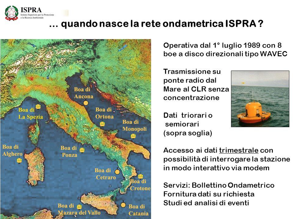 … quando nasce la rete ondametrica ISPRA