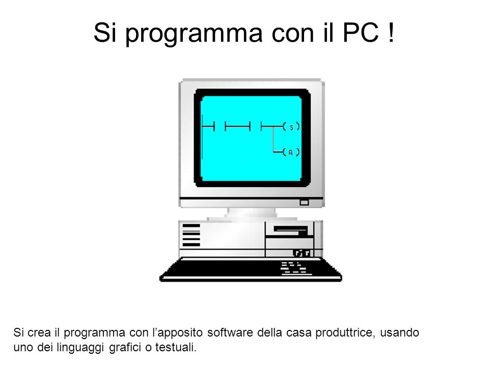 Si programma con il PC .