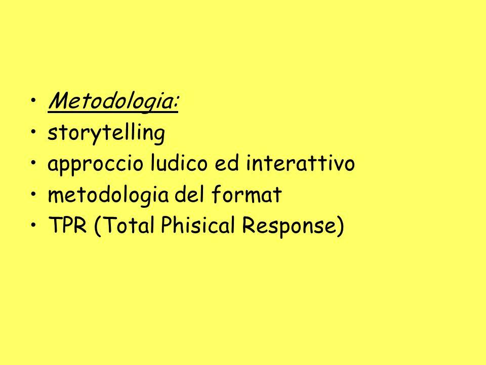 Metodologia: storytelling. approccio ludico ed interattivo.