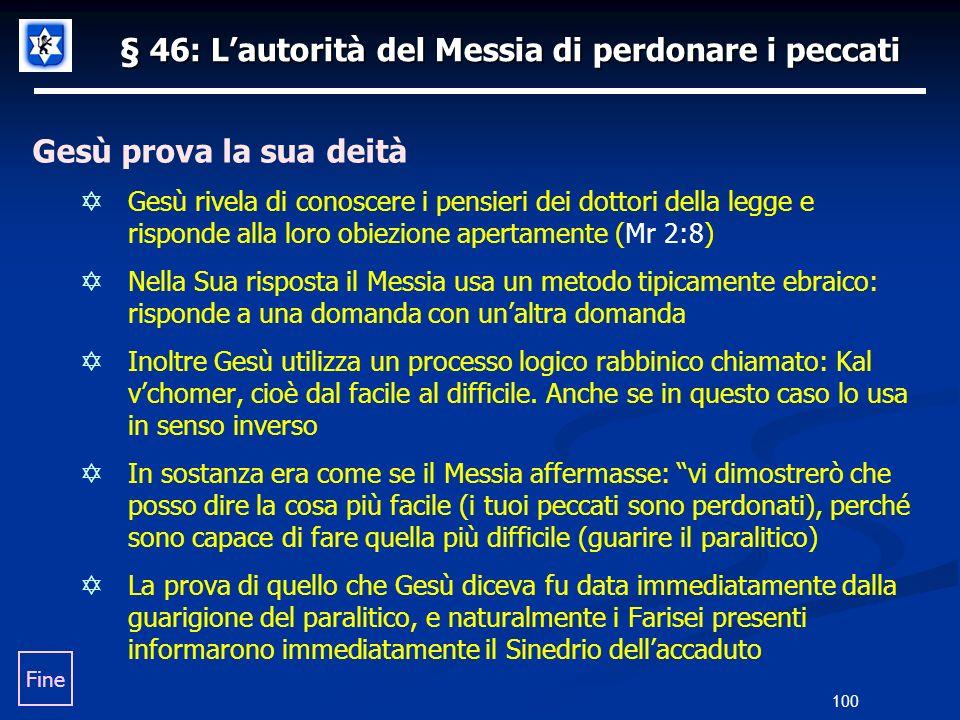 § 46: L'autorità del Messia di perdonare i peccati