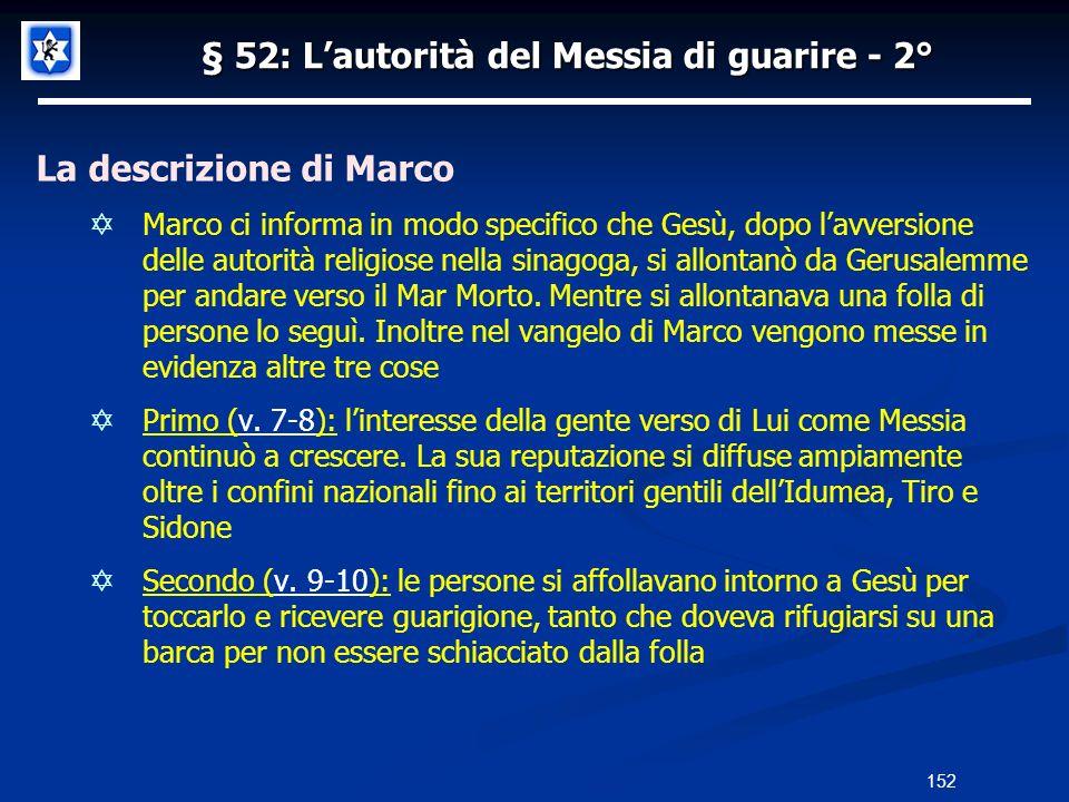 § 52: L'autorità del Messia di guarire - 2°