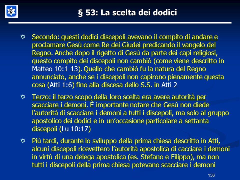 § 53: La scelta dei dodici