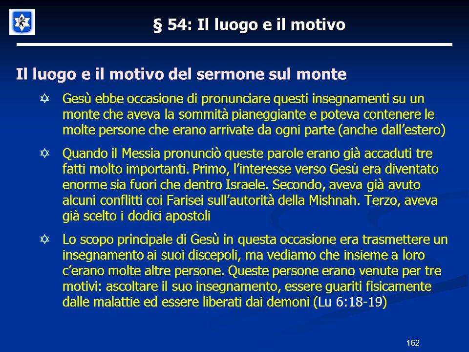 Il luogo e il motivo del sermone sul monte