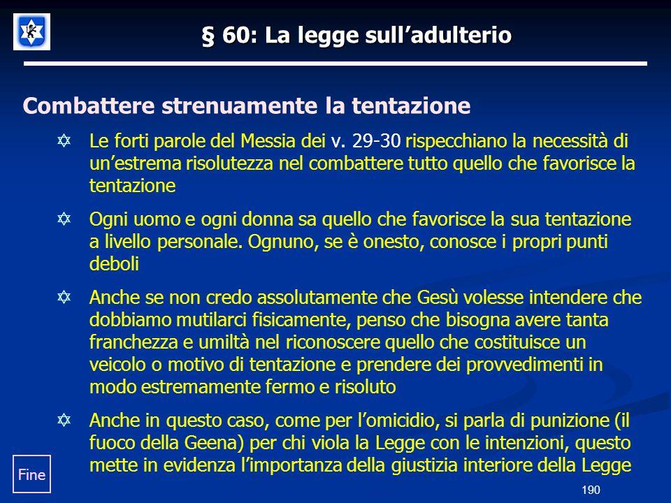§ 60: La legge sull'adulterio
