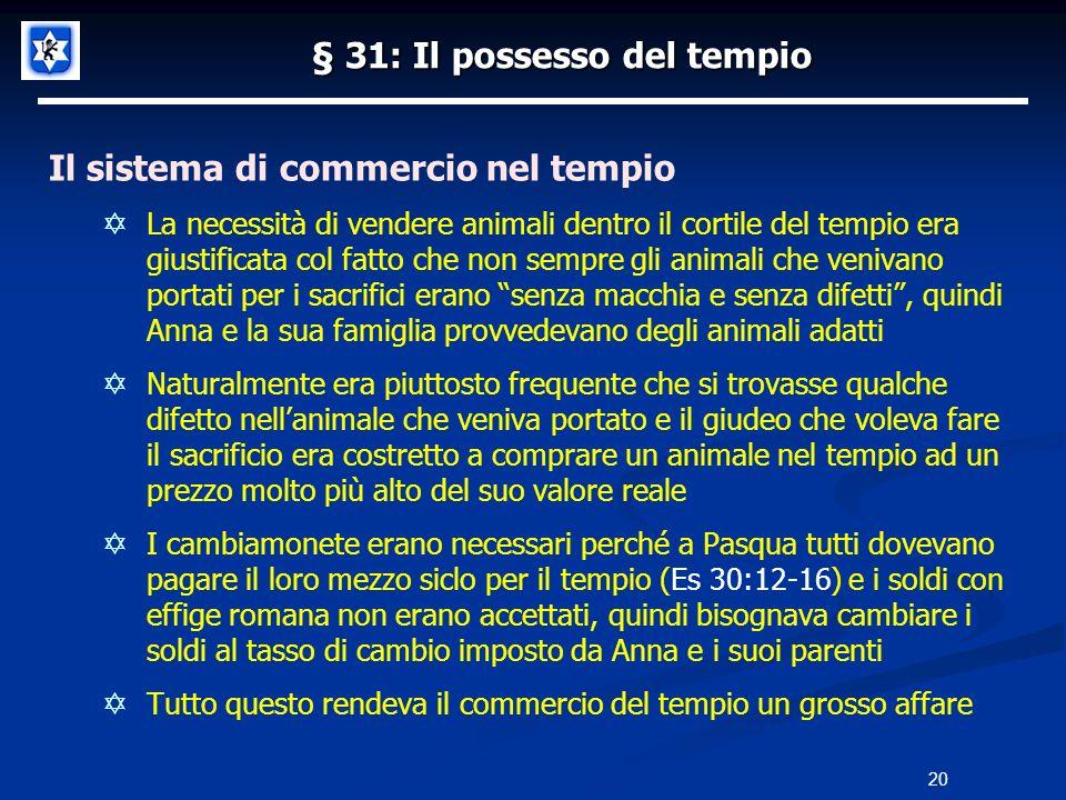 § 31: Il possesso del tempio