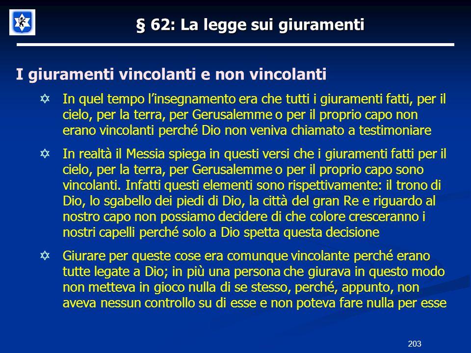 § 62: La legge sui giuramenti