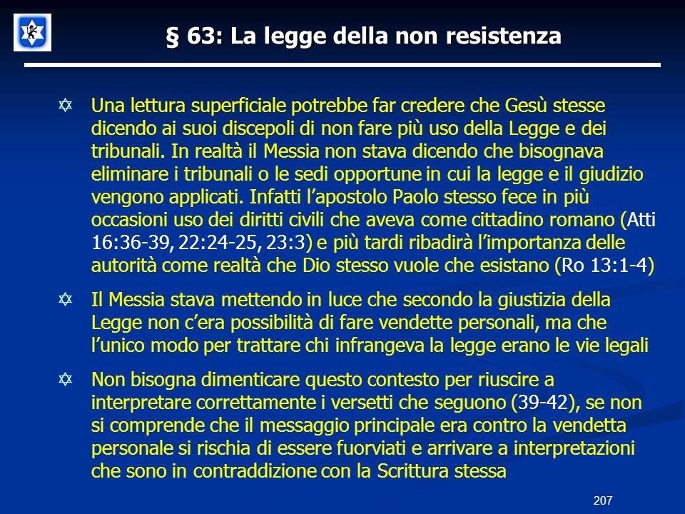 § 63: La legge della non resistenza