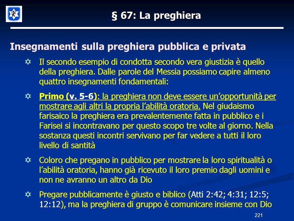 Insegnamenti sulla preghiera pubblica e privata