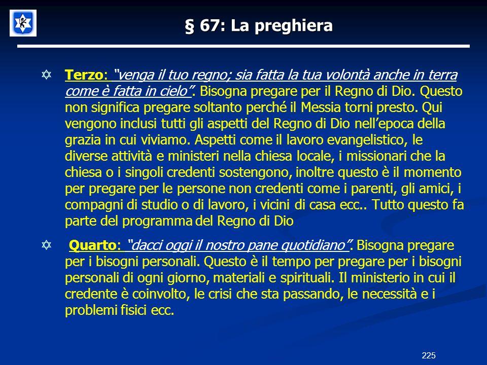 § 67: La preghiera