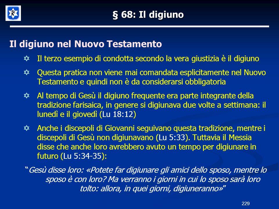 Il digiuno nel Nuovo Testamento