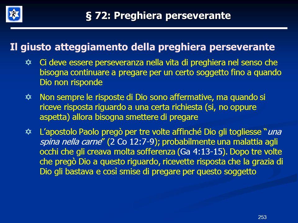 § 72: Preghiera perseverante