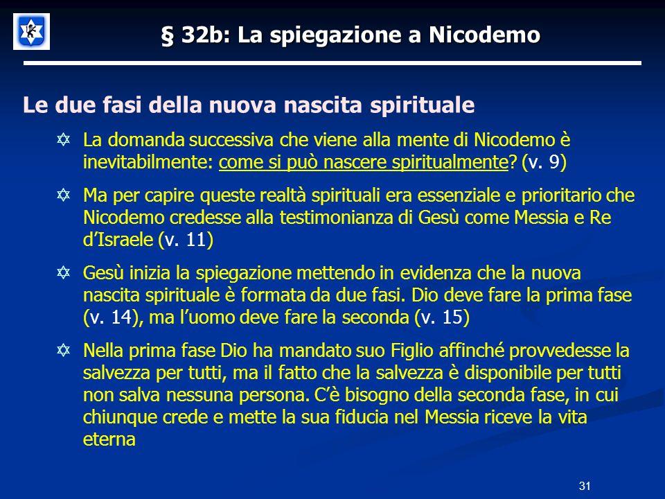 § 32b: La spiegazione a Nicodemo