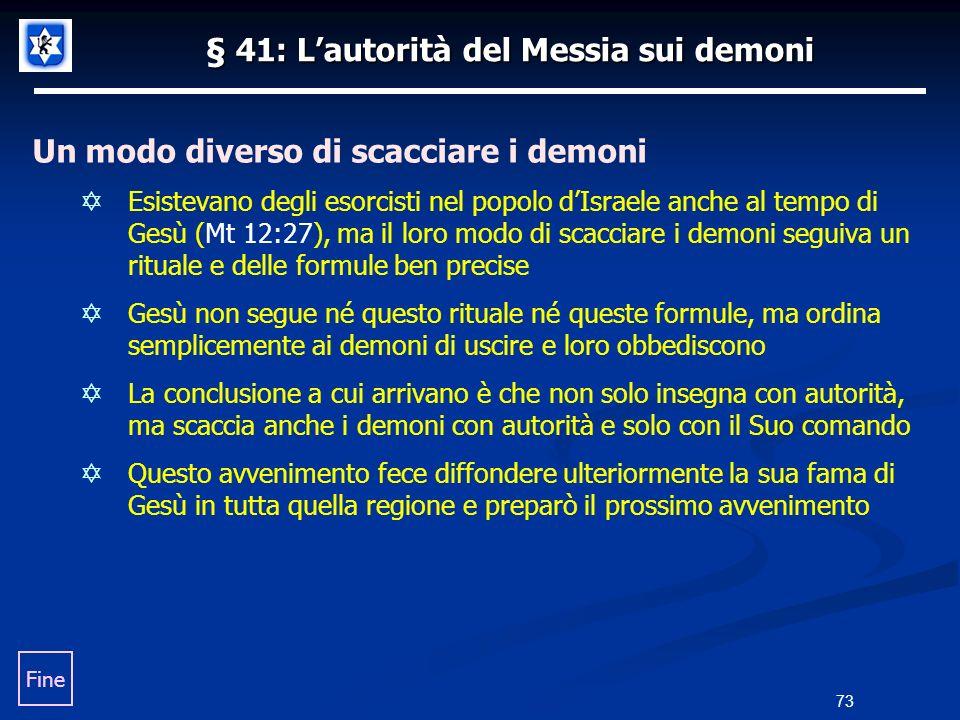 § 41: L'autorità del Messia sui demoni
