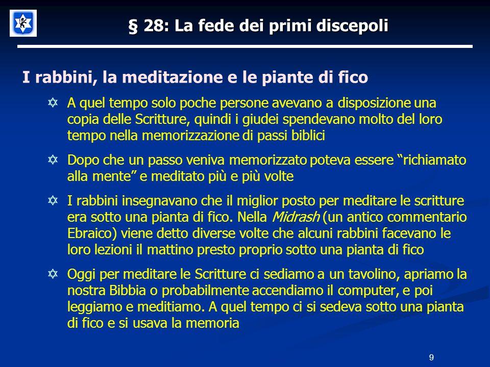 § 28: La fede dei primi discepoli