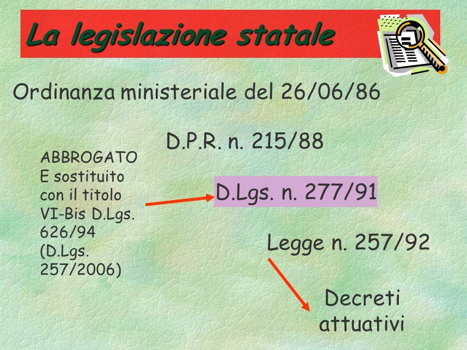 La legislazione statale