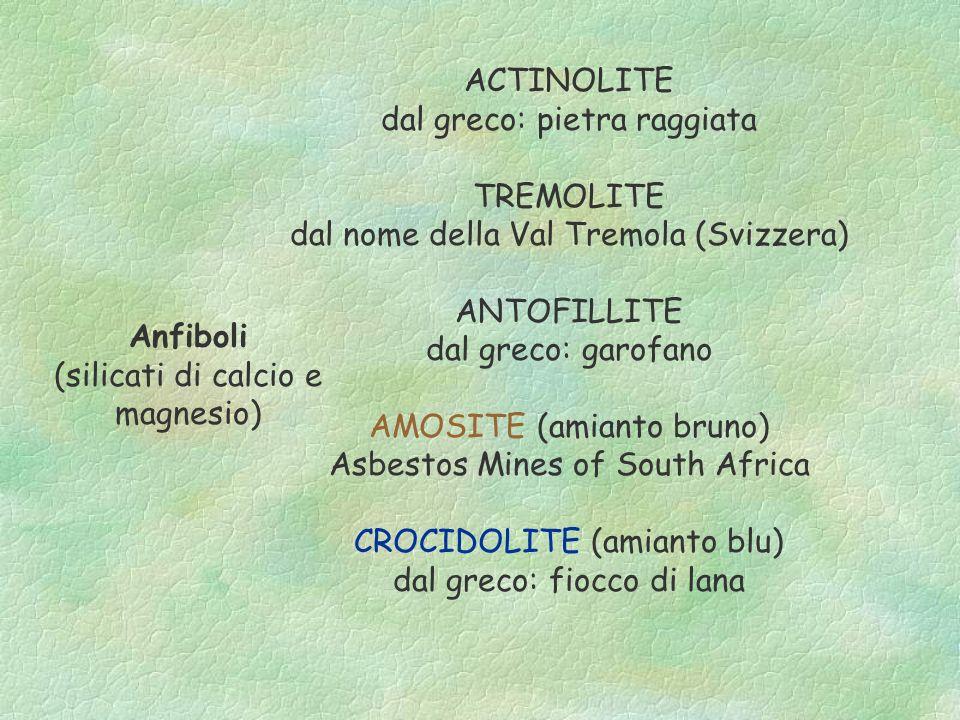 dal greco: pietra raggiata TREMOLITE