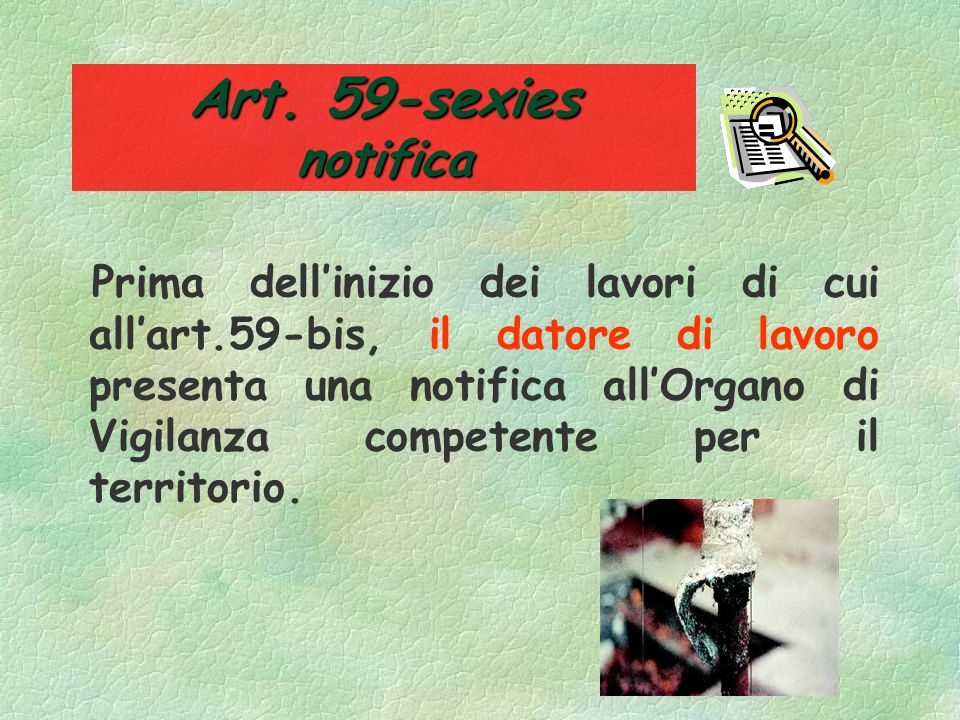 Art. 59-sexies notifica