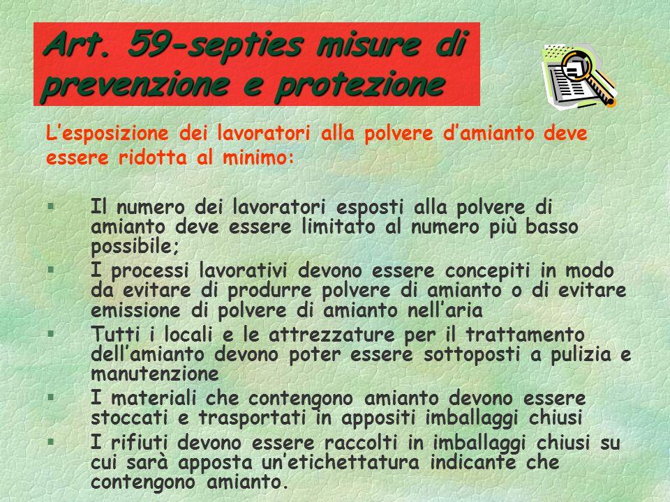 Art. 59-septies misure di prevenzione e protezione