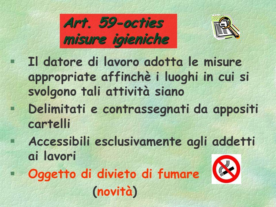 Art. 59-octies misure igieniche