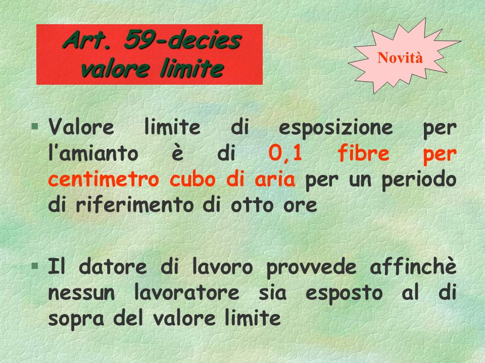 Art. 59-decies valore limite
