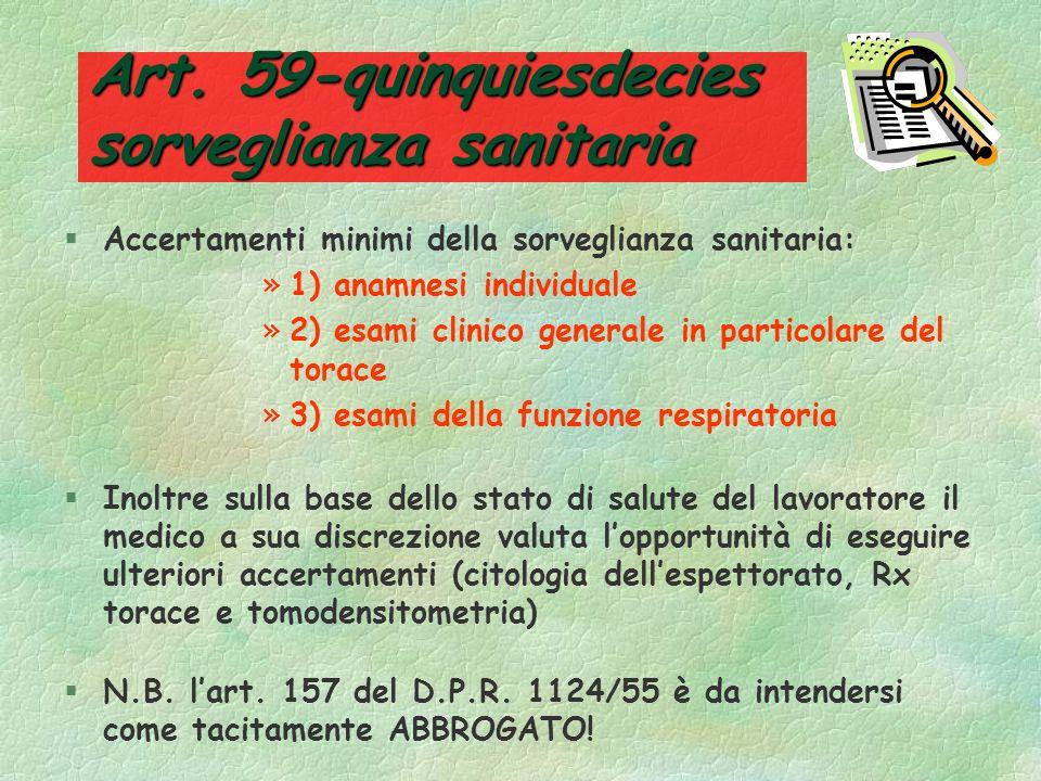 Art. 59-quinquiesdecies sorveglianza sanitaria