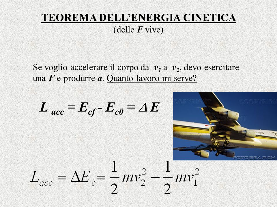 TEOREMA DELL'ENERGIA CINETICA (delle F vive)