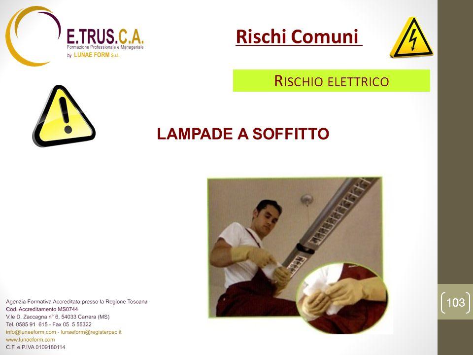 Rischi Comuni Rischio elettrico LAMPADE A SOFFITTO