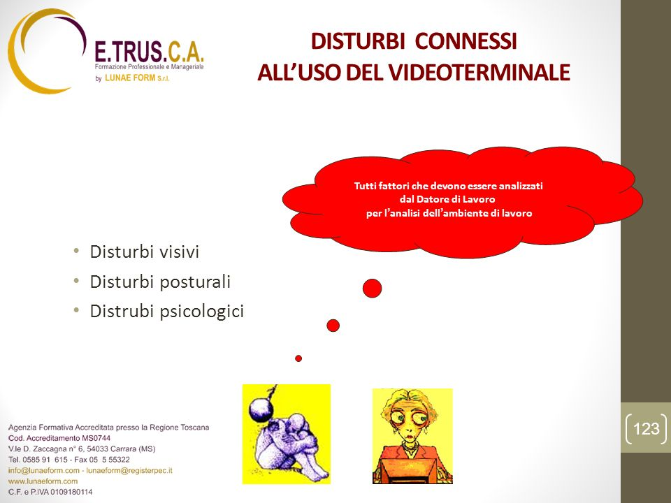 DISTURBI CONNESSI ALL'USO DEL VIDEOTERMINALE