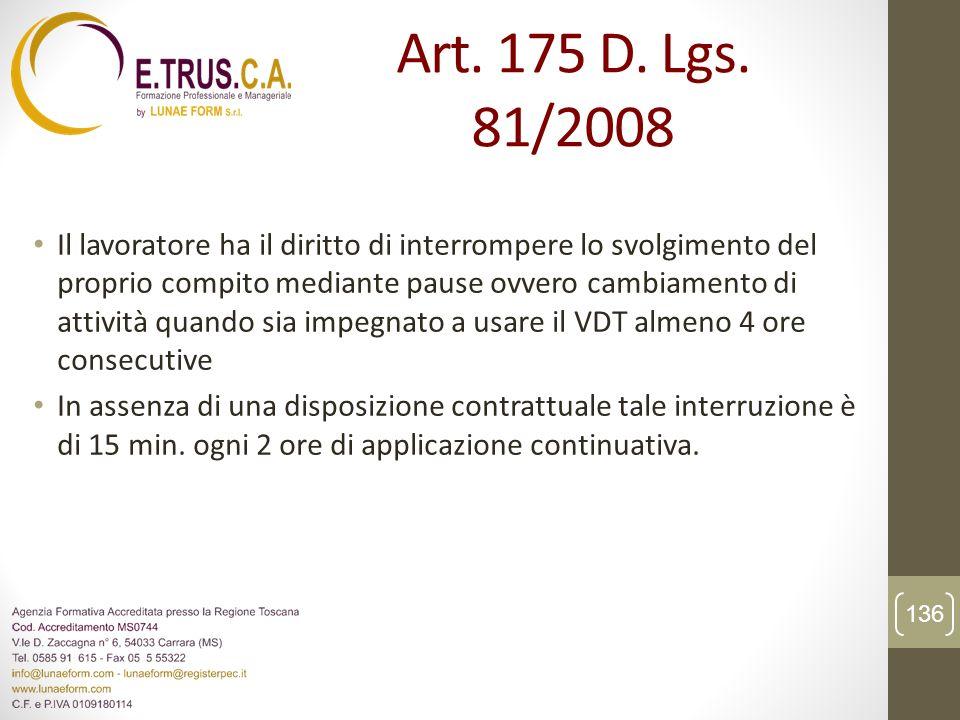 Art. 175 D. Lgs. 81/2008