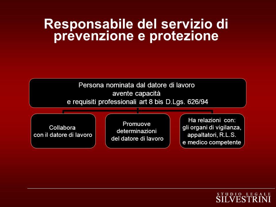 Responsabile del servizio di prevenzione e protezione