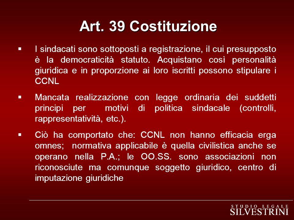 Art. 39 Costituzione