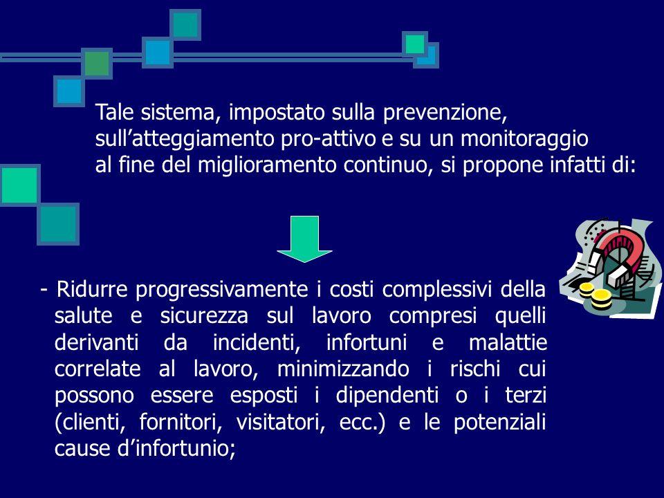 Tale sistema, impostato sulla prevenzione, sull'atteggiamento pro-attivo e su un monitoraggio