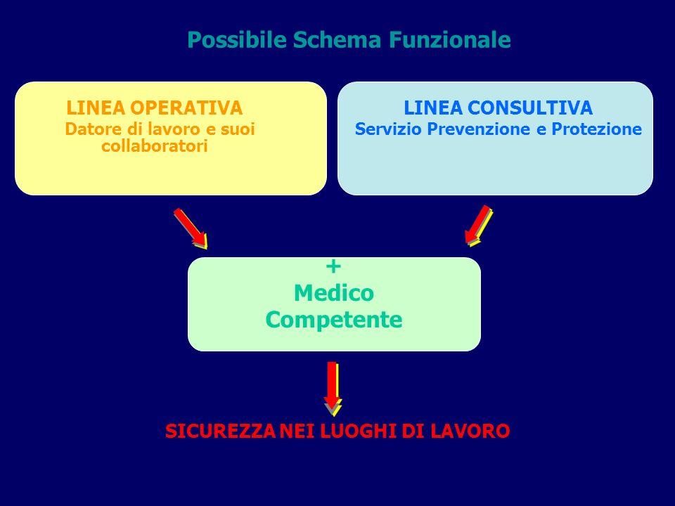 Possibile Schema Funzionale + Medico Competente
