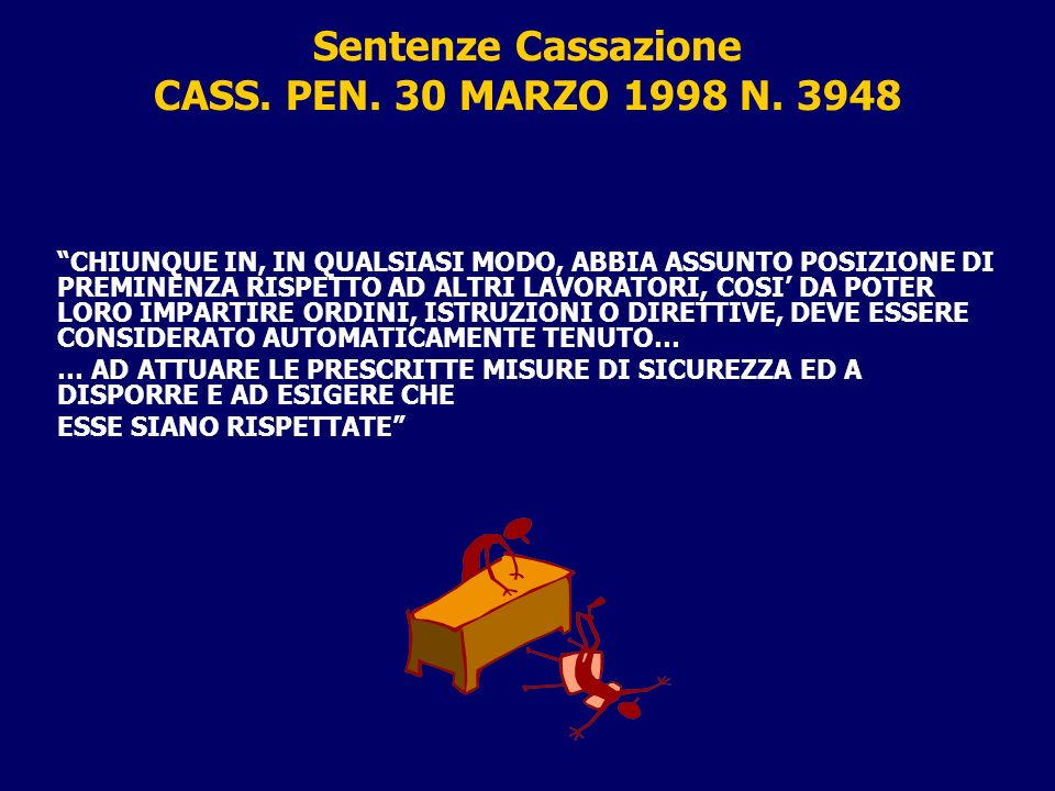 Sentenze Cassazione CASS. PEN. 30 MARZO 1998 N. 3948