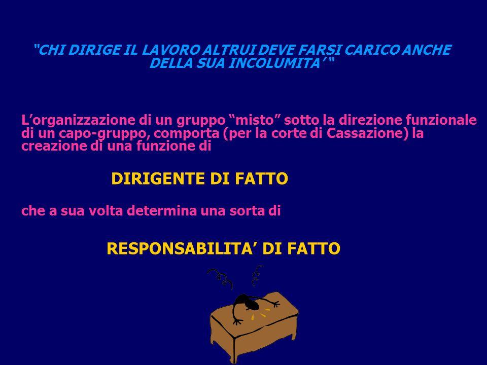 RESPONSABILITA' DI FATTO