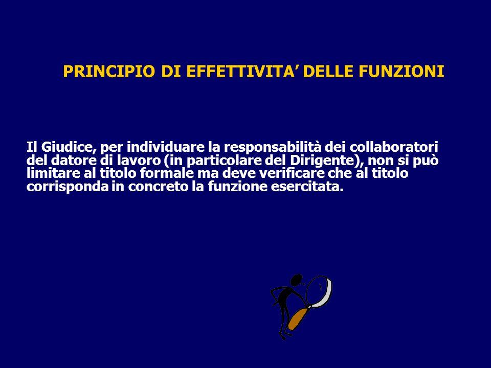 PRINCIPIO DI EFFETTIVITA' DELLE FUNZIONI