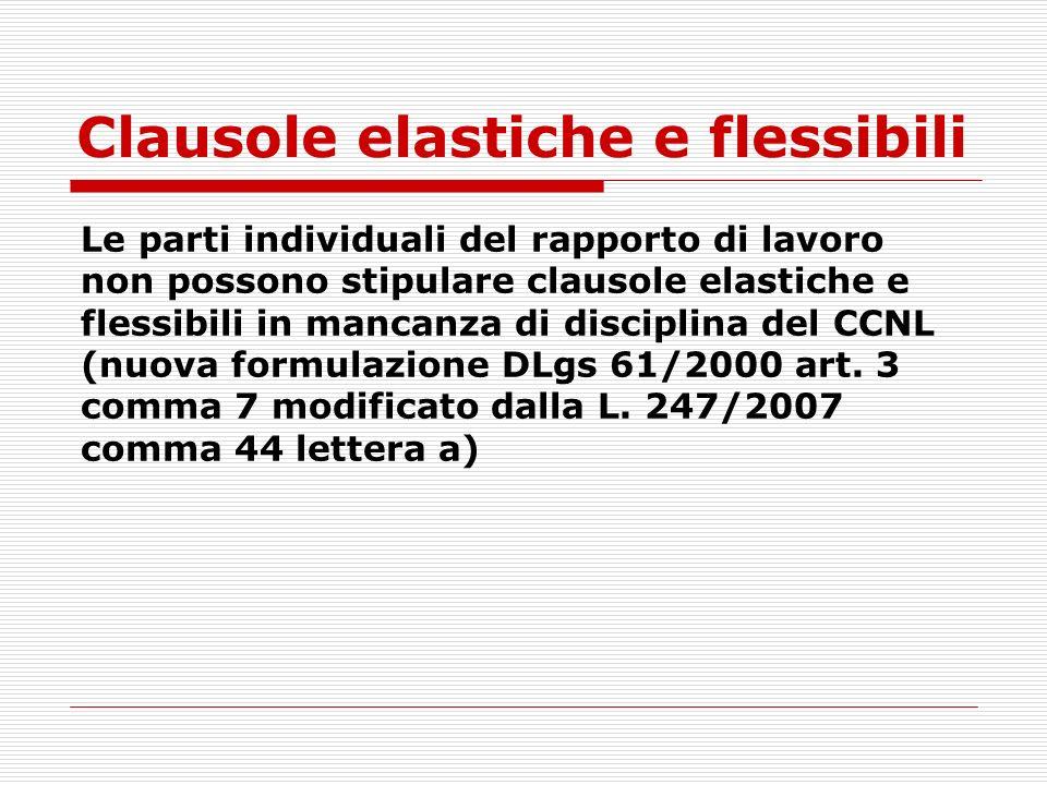 Clausole elastiche e flessibili