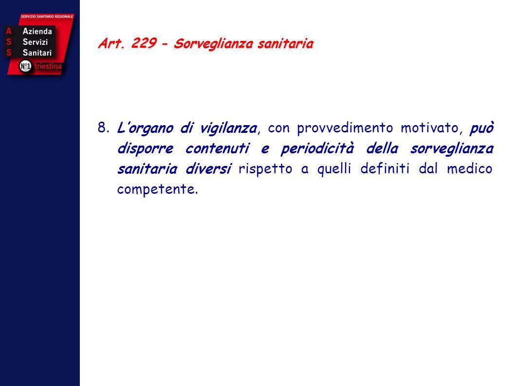 Art. 229 - Sorveglianza sanitaria