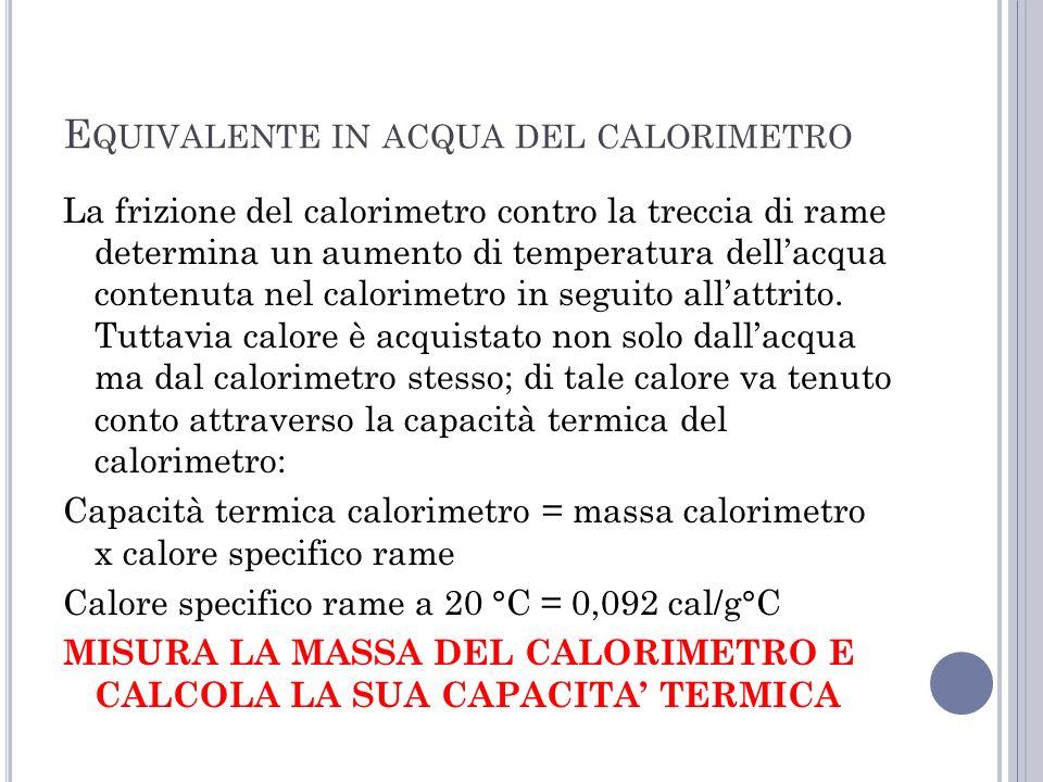 Equivalente in acqua del calorimetro