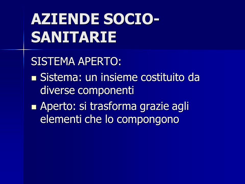 AZIENDE SOCIO-SANITARIE