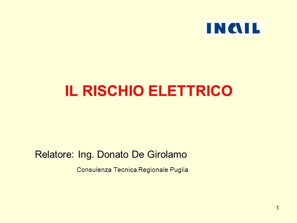 Relatore: Ing. Donato De Girolamo Consulenza Tecnica Regionale Puglia
