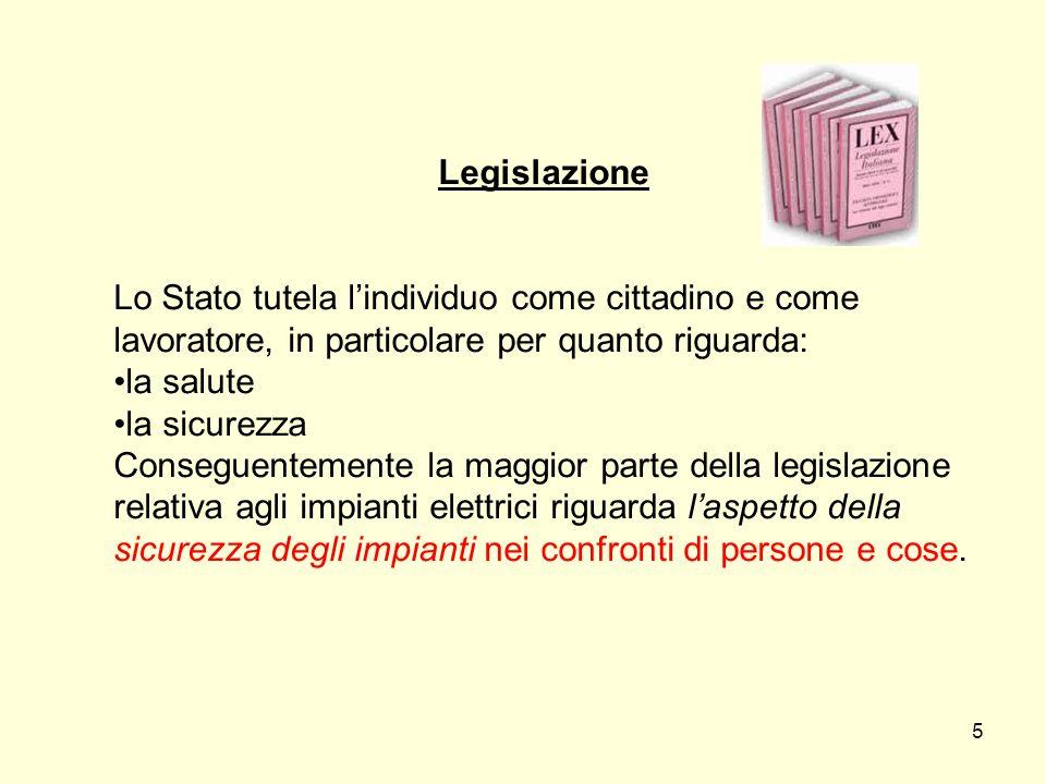 Legislazione Lo Stato tutela l'individuo come cittadino e come. lavoratore, in particolare per quanto riguarda: