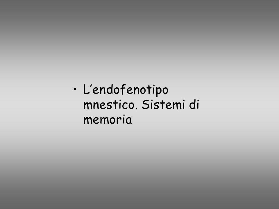 L'endofenotipo mnestico. Sistemi di memoria