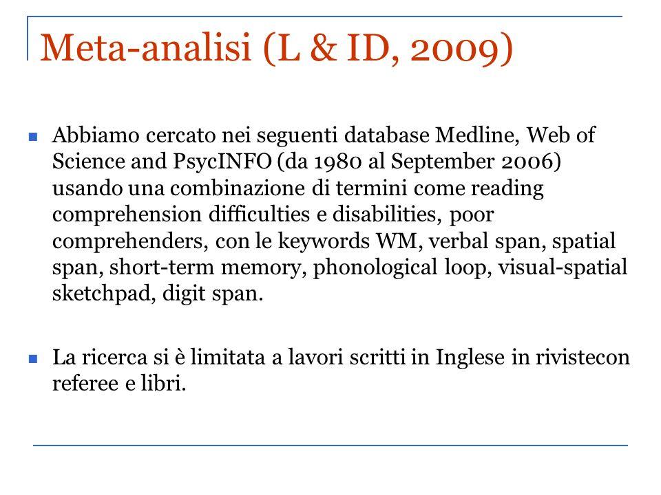 Meta-analisi (L & ID, 2009)