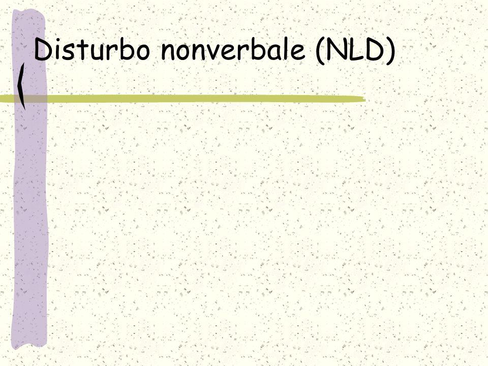 Disturbo nonverbale (NLD)