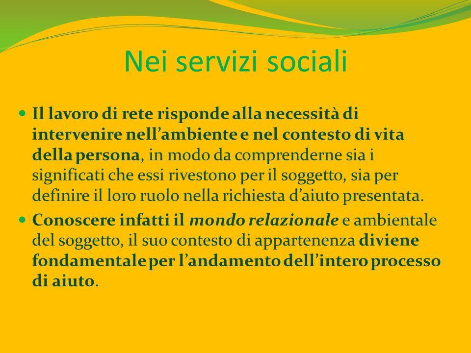 Nei servizi sociali