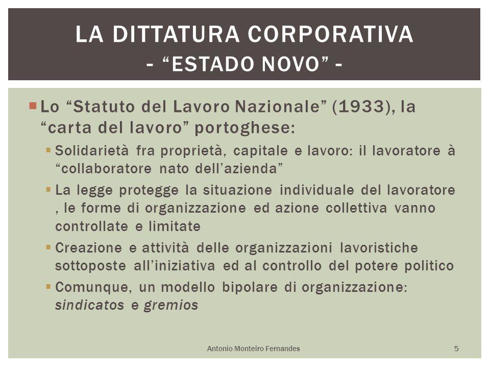La dittatura corporativa - Estado Novo -