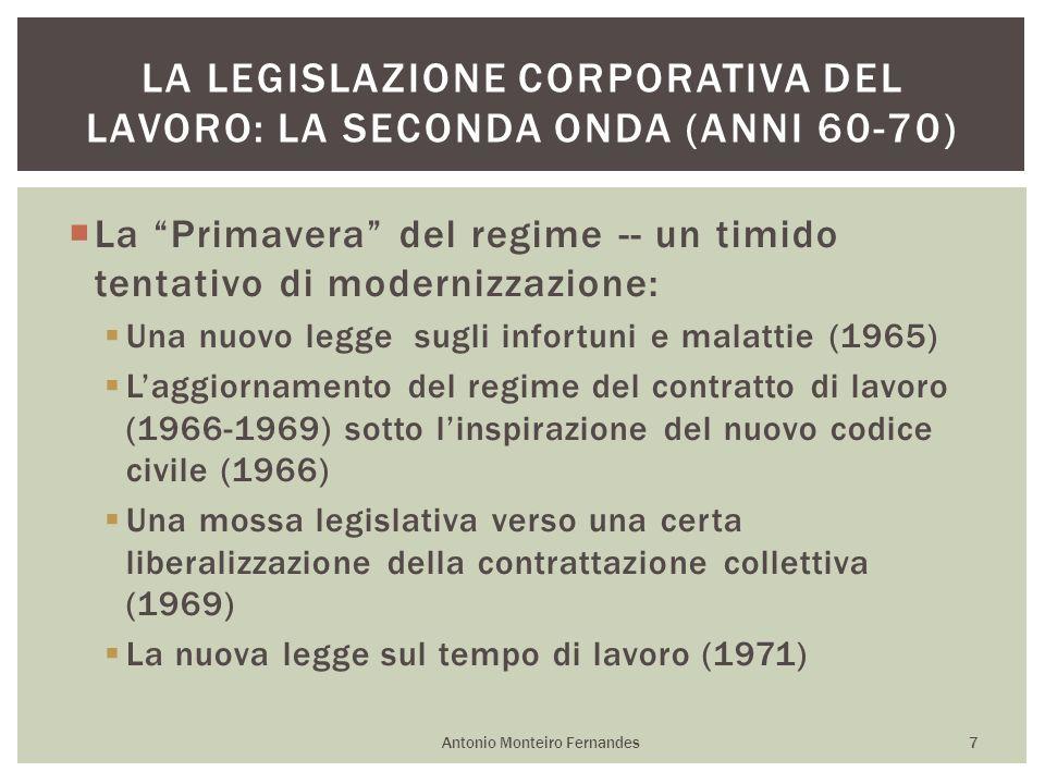 La legislazione corporativa del lavoro: la seconda onda (anni 60-70)
