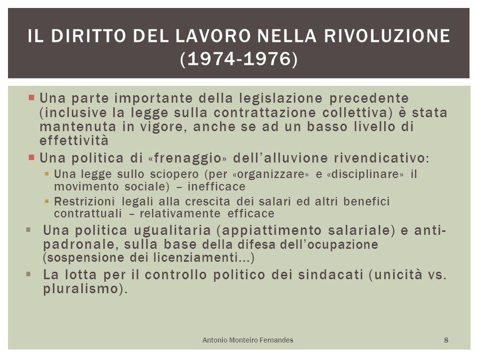 Il diritto del lavoro nella rivoluzione (1974-1976)